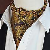 LIXIONG Krawattenschal Halstuch Beidseitig Jacquard Männer Schal Mode Kragen Mund Handtuch, 17 Farben ( Farbe : #1 )