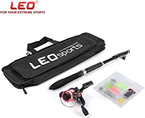 Zorbes Leo 1.6M Telescopic Fishing Rod Set with Fish Reel Hook Lure Tackle Accessory