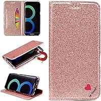 Sycode Galaxy S8 Glitzer Schutzhülle,Flip Hülle für Samsung S8,Luxus Noble Bling Glitter {Be Loved} Herz Entwurf... preisvergleich bei billige-tabletten.eu
