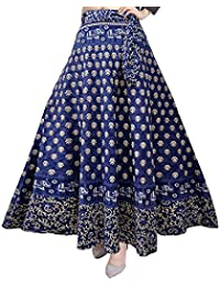Silver Organisation Women's Cotton Skirt (SK_5183, Multicolour, Free Size)
