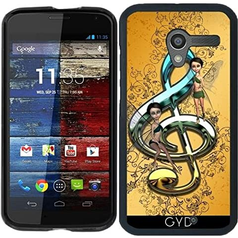 Custodia per Motorola Moto X (Generation 1) - Bello, Clef Decorativo by nicky2342