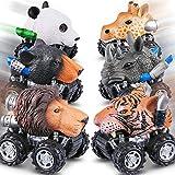 Best Creatividad para Niños Juegos Para 6 años de la - WOSTOO Coches de Animales, 6 Paquetes Tire hacia Review