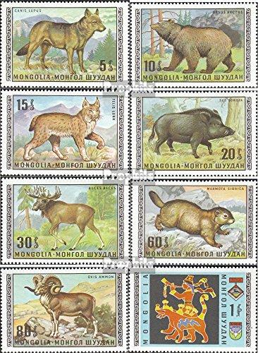 Prophila Collection Mongolei 578-585 (kompl.Ausg.) 1970 Einheimische Tierwelt (Briefmarken für Sammler) Katzen -