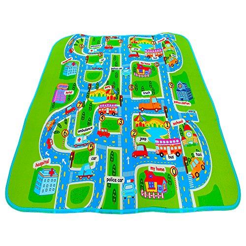 06 Läufer Teppich (Coscelia Baby Spielteppich Kinderteppich Unterlage Spielmatte -200 x160 cm)