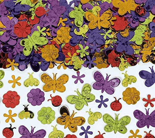 Amscan International Confettis Motif papillons et fleurs