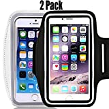 Wasserabweisend Handy Armband: 13,2 cm Schutzhülle für iPhone X, 8, 7, 6, 6S, SE, 5, 5 C, 5S, und Galaxy S5, Google Pixel – Reflektierende Klett verstellbar Running Workout Gym Band, sicheren Schlüssel Halter, watercolor waterfall wedding weight wide angle, black+silver