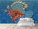 LONGYUCHEN Benutzerdefinierte 3D Seide Wandbild Tapete Ölgemälde Stil Tropische Fische Geeignet Für Schlafzimmer Wohnzimmer Hotel Wanddekoration Wandbild,200Cm(H)×300Cm(W)