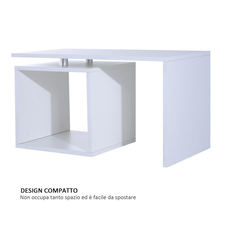 Tavolini Bassi Salotto.Homcom Moderno Tavolino Basso Da Salotto In Legno Mdf 77 X