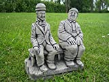 Laurel & Hardy Stone Garden Ornament || See my full shopfront with over 150 items available >>Click the blue neilsstonecraft link below