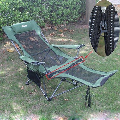 RDJM Accoudoir Dossier Double Lits inclinables déjeuner en Plein air de Pique-Nique de Camping Chaise Pliante de pêche Tabouret de Plage, a