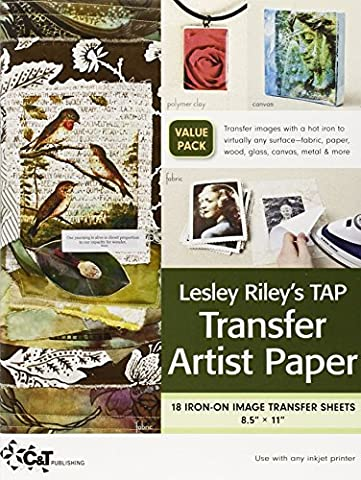 Lesley Riley's Tap, Transfer Artist Paper: 18 Iron-on Image Transfer Sheets 8.5 X 11-