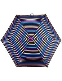 Totes Supermini Ladies Folding Umbrella - Bright Visual Stripes