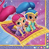 Amscan - Pack de 20 servilletas Shimmer And Shine (9902155-99)