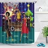 LB Festa in Discoteca Stile/DJ/Donne africane,Tenda da Doccia con Ganci,150cm x 180cm