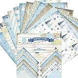 24 Blatt Scrapbooking Papier Handwerk DIY Dekorpapier Fotoalbum Hintergrund Scrapbooking Papier 6x6 Zoll (E)