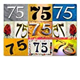 DigitalOase Einladungskarte 75. Geburtstag 75. Jubiläum A5 Geburtstagskarte 1 Klappkarte 1 Kuvert #LETTERS