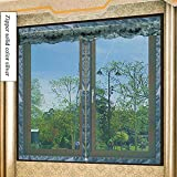 YOLE Anti-Moskito-Vorhang-Klettverschluss Magnet Fliegengitter Fenster Vorhang Insektenschutz Reißverschluss des Mittelblocks offen Der Vorhang ist Ideal für die Kinderzimmer,E,140 * 150cm/55 * 59in