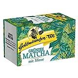 Goldmännchen Grüntee Matcha mit Minze, Grüner Tee, Matcha Tee, 20...