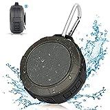 Bluetooth Lautsprecher Tragbar Dusche Lautsprecher,Hcman Wasserdicht Outdoor Speaker mit Eingebautem Mikrofon für iPhone, iPad, Samsung, Nexus, Android Geräte (Grau)