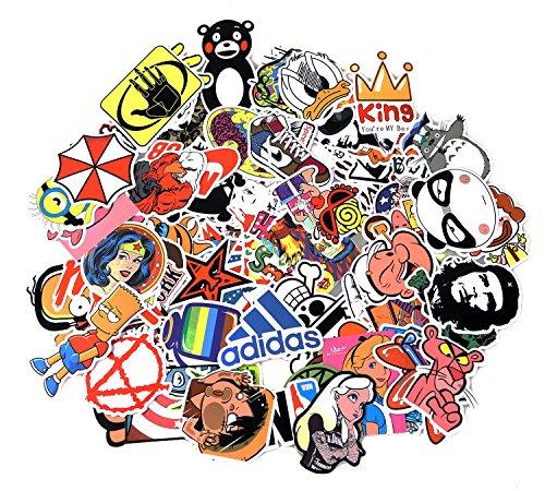 Sticker Pack 100-Pcs Adesivi Stickers Vinili per computer portatile,bambini,automobili,motociclette,bicicletta,skateboard,autoadesivi paraurti Hippie Decals bomba impermeabile