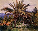 A Palm Tree at Bordighera.Claude Monet. 1840-1926.Oil print on canvas 50x40 cm or 20x16 ins.The picture is an oil print on canvas and will be sent in a tube.It is not an original.
