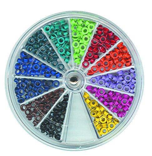 Vaessen Creative, kit di 300 occhielli in metallo in 12 colori