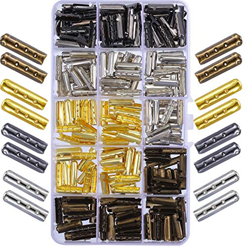 Boao Puntas de recambio de metal para zapatillas de lienzo y reparación de bricolaje 200 unidades Oro, Plata, ébano, bronce