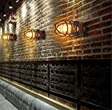 Lampe de mur Vintage appliques murales en fer forgé industriel loft lampe couloir du vent le couloir extérieur lampe murale appliques étanches,10*22cm...