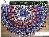 Home décoratif Mandala Tapisserie murale à suspendre hippie boho Bohème Décor mural Gypsy Coton drap de plage Coton Plage Couverture rond sexy Serviette de plage rond indien Tapisserie Tapis de yoga de plage Tapisserie