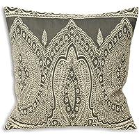 Riva Paoletti Paisley Cushion Covers, Grey, 50 x 50 cm