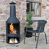 "4FT 4"" Extra Large Chimenea Black Fire Pit Burner Patio Heater Outdoor Garden"