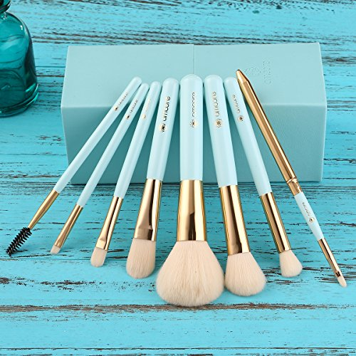 amoore Make up Brushes 8Pcs Makeup Brushes Set with Holder Make up Brush with Case