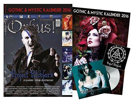 "Orkus! Dezember 2015/Januar 2016 mit XXL-KALENDER ""GOTHIC & MYSTIC 2016""! + PROJECT PITCHFORK (7 Seiten + AUFKLEBER), PLACEBO, VNV NATION, L' ÂME IMMORTELLE, MOTIONLESS IN WHITE (Tattoos!), MEGAHERZ, ASP & KAI MEYER, BLUTENGEL, MONO INC., IAMX, DAVE GAHAN, OOMPH! (Dero kocht!), APOPTYGMA BERZERK (History) u.v.m."