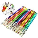 Caxmtu 12-farbiges Gelschreiber-Set zum Ausmalen von Büchern für Erwachsene und Kinder, zum Kritzeln, Schreiben, für Fotoalben oder Mischtechnik-Künstler