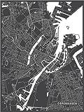 Poster 60 x 80 cm: Kopenhagen Niederlande Karte von Main