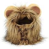 BEETEST Mascota traje León crin peluca con orejas de gato perro fiesta Navidad Halloween Dress up,Talla M de circunferencia de cuello 28cm