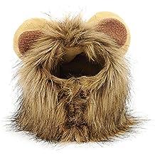 BEETEST Mascota traje León crin peluca con orejas de gato perro fiesta  Navidad Halloween Dress up 8eefec68659