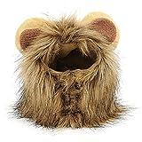 Beetest Haustierkostüm für Hunde/Katzen, Größe L für Halsumfang 32cm,Modell Löwenmähne mit Ohren