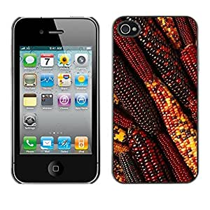 Omega Covers - Snap on Hard Back Case Cover Shell FOR Apple iPhone 4 / 4S - Autumn Summer Farming Field Red
