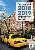 Carnet de bord 2018-2019 des professeurs d'anglais
