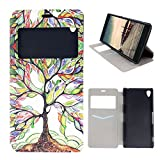 Best A-type Z3 Cases - Sony Xperia Z3 Window Case, Moon mood® Colorful Review