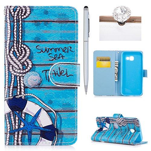 Preisvergleich Produktbild Hülle für Samsung Galaxy A3 2017,Galaxy A3 2017 Lederhülle,Galaxy A3 2017 Schutzhülle Handyhülle Flip Wallet PU Lederhülle Magnetic Buckle Handyhülle Ledercase Tasche Hüllen Brieftasche Schutzhülle