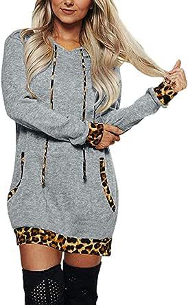 ZANZEA Femme Robe Dress Manche Longue Boutons à rayures Cardigans à capuche Plus