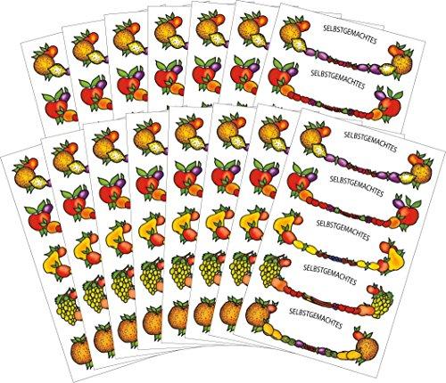 AVERY Zweckform 58236 Einmach-Set Obstrahmen Sticker (Vorteils-Pack) 75 Aufkleber
