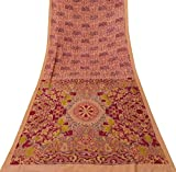 Vintage Indian Jahrgang Ethnischen Reine Seide Orange