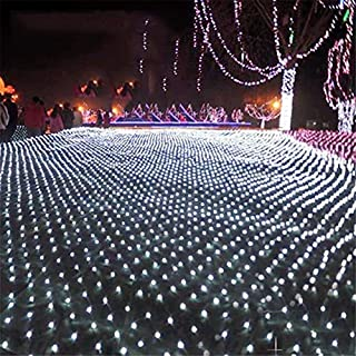 UNIQUE-F Net Light Waterproof Fishing Net Fairy Lamp LED String Super Bright Indoor And Outdoor Decoration White 2 * 2m