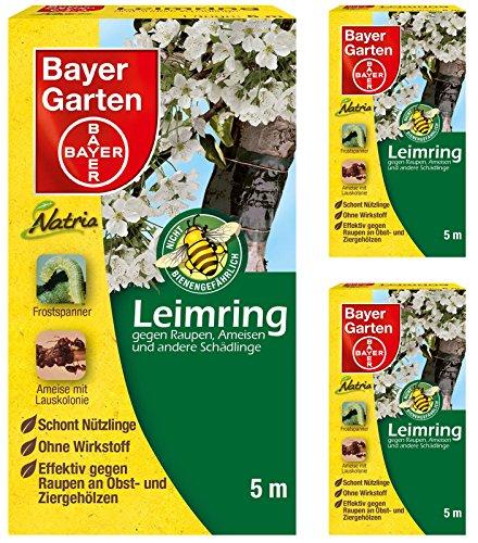 3 x 5 m Bayer Natria Leimring Leimgürtel gegen Ameisen Raupen Läuse Frostspanner
