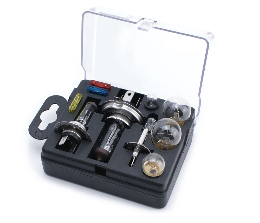 UNIVERSAL SPARE BULB KIT INCLUDING H1 H4 H7 BULBS & FUSES - Driving in  France - All you need to know
