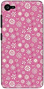 The Racoon Lean printed designer hard back mobile phone case cover for Lenovo Z2 Plus. (Pink Flowe)