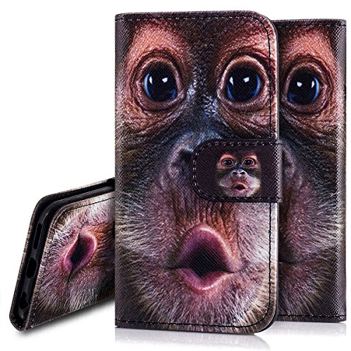 Custodia iPhone 6S 4.7 Cover iPhone 6 4.7,Ukayfe Stitching Colore Flip Case Cover per iPhone 6S 4.7,iPhone 6/6S Lussuosa Astuccio Custodia Cover [PU Leather] [Shock-Absorption] Protettiva Portafoglio Orangutan 2#